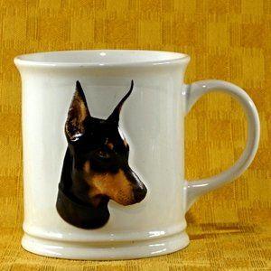 Embossed Doberman coffee mug cup XPRES EUC